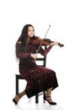 Het spelen van het meisje viool Stock Afbeeldingen