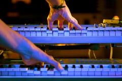 Het spelen van het toetsenbord Royalty-vrije Stock Foto
