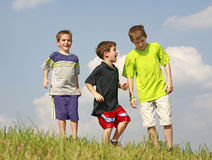Het Spelen van kinderen Stock Foto's