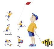 Het Spelen van Little Boy Royalty-vrije Stock Afbeeldingen