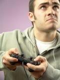 Het spelen videospelletje Stock Foto's