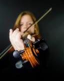 Het spelen viool Royalty-vrije Stock Afbeeldingen