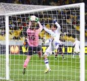 Het spelFC Dynamo Kyiv van de Liga van UEFA Europa versus Bordeaux Royalty-vrije Stock Foto's