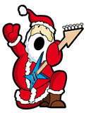 Het spelgitaar van de kerstman Royalty-vrije Stock Foto