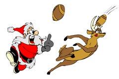 Het spelhandbal van de kerstman Royalty-vrije Stock Foto