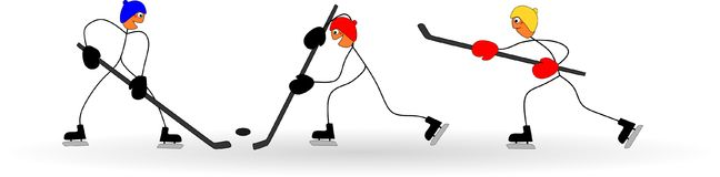 Het spelijshockey van stokcijfers door de olympische de winterspelen Royalty-vrije Stock Afbeeldingen