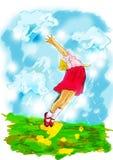 Het spelillustratie van kinderen royalty-vrije illustratie