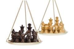 Het spelmetafoor van het schaak Stock Foto's