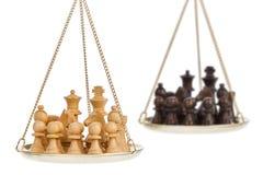 Het spelmetafoor van het schaak Royalty-vrije Stock Afbeeldingen