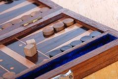 Het spelraad van het backgammon royalty-vrije stock fotografie