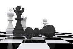 Het spelraad van het schaak Royalty-vrije Stock Foto's