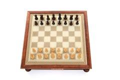 Het spelraad van het schaak Stock Foto