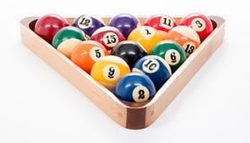 het spelrek van de 8 balpool van ballen Royalty-vrije Stock Afbeeldingen