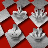 Het spelsamenvatting van het schaak Royalty-vrije Stock Foto's