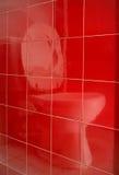 Het spiegelbeeld van het toilet Royalty-vrije Stock Fotografie