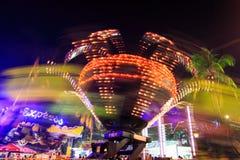 Het spinnen rit bij het themapark Royalty-vrije Stock Foto's