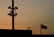Het spioneren op Amerikanen Stock Afbeelding