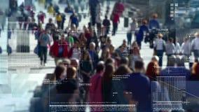 Het spioneren op mensen in de menigte royalty-vrije illustratie