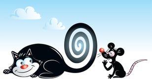 Het spiraalvormige hypnotiseren vector illustratie