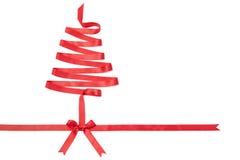 Het spiraalvormige lint kijkt als Kerstboom Stock Fotografie