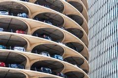 Het spiraalvormige parkeren van Marina City, Chicago stock foto
