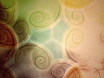 Het spiraalvormige Patroon van de Kunst op Canvas Royalty-vrije Stock Afbeeldingen