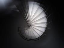 Het spiraalvormige trede 3D teruggeven Stock Foto's
