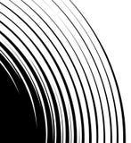 Het spiraalvormige uitspreiden van hoek abstract element Concentrisch, circu Stock Afbeelding
