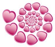Het spiry patroon van het hart Royalty-vrije Stock Foto
