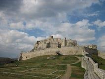 Het Spis-Kasteel, het Nationale Culturele Monument van Spissky hrad, Slowakije Stock Foto