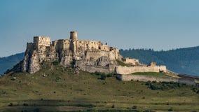 Het Spis-Kasteel - het Nationale Culturele Monument UNESC van Spissky hrad royalty-vrije stock fotografie