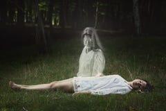 Het spook kijkt direct in de camera Royalty-vrije Stock Afbeelding