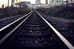 Het spoor stock foto