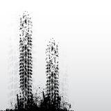 Twee bandsporen stock illustratie
