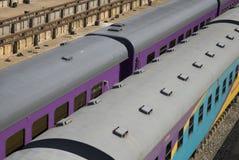Het spoor traint 2 Stock Foto