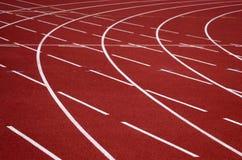 Het spoor van de atletiek stock afbeelding