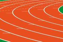 Het spoor van de atletiek Royalty-vrije Stock Foto's
