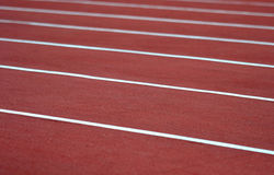 Het spoor van de atletiek Stock Fotografie
