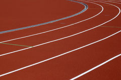 Het spoor van de atletiek Royalty-vrije Stock Afbeeldingen