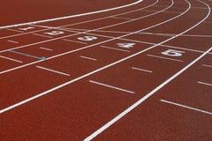 Het spoor van de atletiek Stock Afbeeldingen
