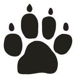 Het spoor van de hond Stock Afbeelding