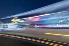 Het spoor van de nachtauto Stock Foto
