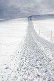 Het spoor van de sneeuw na sneeuw groomer Stock Foto