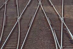 Het spoor van de spoorweg royalty-vrije stock foto's