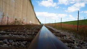 Het spoor van de spoorweg stock foto's