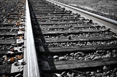 Het Spoor van de spoorweg in Daling royalty-vrije stock foto