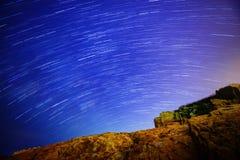 Het spoor van de ster stock afbeelding
