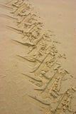 Het Spoor van de tractor in zand - 1 royalty-vrije stock afbeeldingen