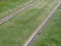 Het spoor van de tramspoorweg Stock Fotografie