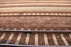 Het Spoor van de trein Stock Afbeeldingen